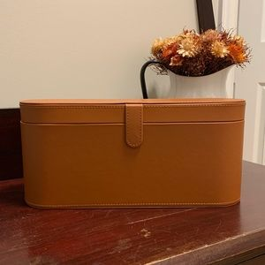 Genuine Dyson brown leather travel case